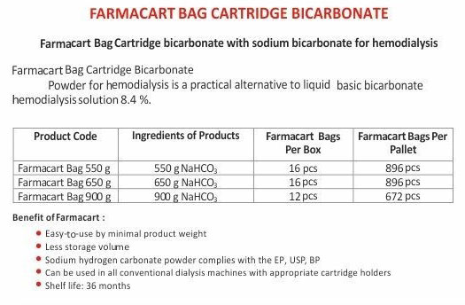 Farmacart Bag Cartridge Bicarbonate_S